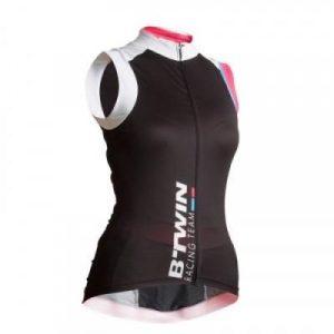 Fitness Mania - Womens Sleeveless Cycling Jersey - 700 - Black/White/Pink