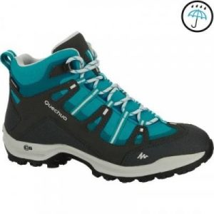 Fitness Mania - Women's Waterproof Hiking Boots Arpenaz 100 Mid - Blue
