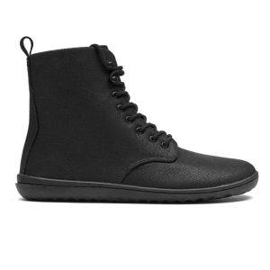 Fitness Mania - Vivobarefoot Gobi HI 2.0 Canvas - Womens Casual Shoes - Black