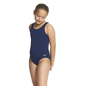 Fitness Mania - Zoggs Cottesloe Sportsback Kids Girls One Piece Swimsuit - Navy