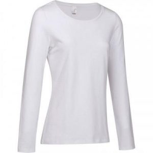 Fitness Mania - 100 Women's Long-Sleeved Stretching T-Shirt - White
