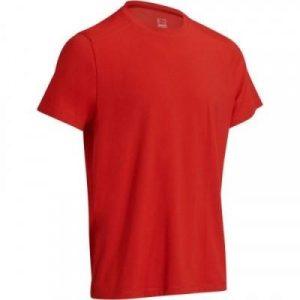Fitness Mania - 500 Short-Sleeved Regular Gym & Pilates T-Shirt - Red