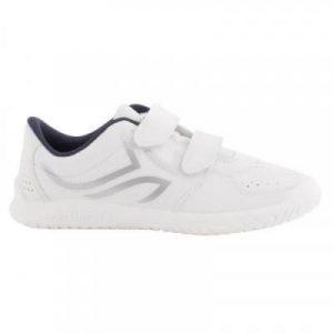 Fitness Mania - TS100 Grip Kids' Tennis Shoes - White/Blue