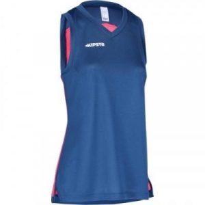 Fitness Mania - Womens Basketball Jersey B500 - Navy Blue and Pink
