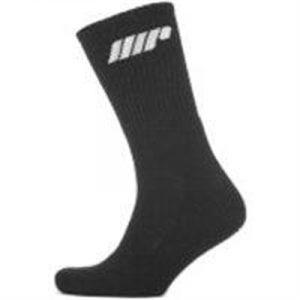 Fitness Mania - 2 Pack Crew Socks - Slate Grey - UK 6-8 - Slate Grey