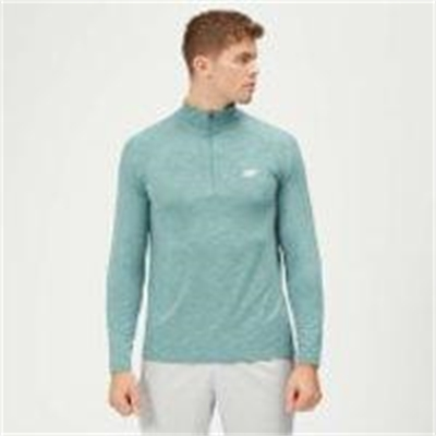 Fitness Mania – Performance 1/4 Zip Top – Airforce Blue Marl – XXL – Airforce Blue Marl