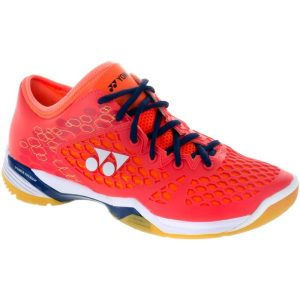 Fitness Mania - Yonex Power Cushion 03 Z Mens Indoor Court Shoes - Coral Red