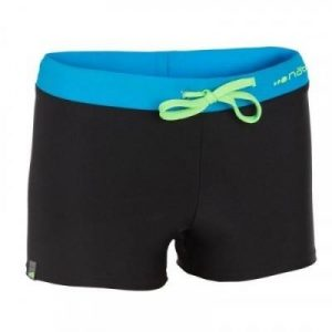 Fitness Mania - 100 PEP BOYS' BOXER SWIM SHORTS - BLACK/BLUE