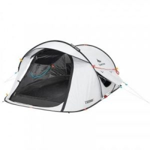 Fitness Mania - 2 Seconds Pop Up Tent Fresh & Black _PIPE_ 2 Person - White