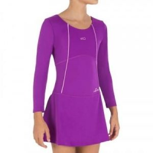 Fitness Mania - Audrey Women'S Swimsuit With Long Sleeves - Purple