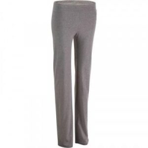 Fitness Mania - Fit+ 500 Women's Regular-Fit Gym & Pilates Leggings - Mid Heathered Grey
