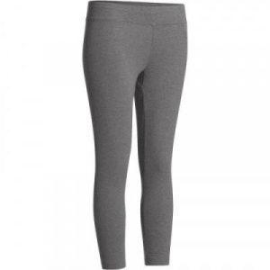 Fitness Mania - Fit+ 500 Women's Slim-Fit Gym & Pilates 7/8 Leggings - Mid Mottled Grey