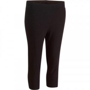 Fitness Mania - Fit+ 500 Women's Slim-Fit Gym & Pilates Cropped Bottoms - Black