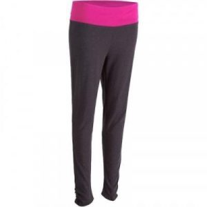 Fitness Mania - Women's Yoga Leggings Organic Cotton Grey and Pink