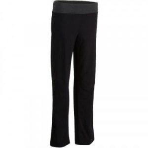 Fitness Mania - Women's Yoga Organic Cotton Bottoms - Mottled Black / Grey