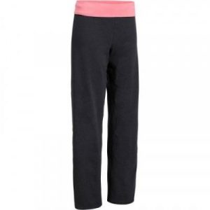 Fitness Mania - Women's Yoga Organic Cotton Bottoms - Mottled Grey / Coral