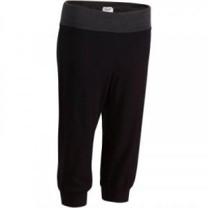 Fitness Mania - Women's Yoga Pant Capri/Cropped Organic Cotton Black and Grey