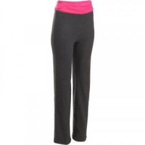 Fitness Mania - Women's Yoga Pants Long Organic Cotton Grey and Pink