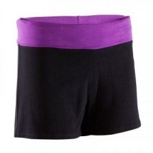 Fitness Mania - Women's Yoga Shorts Organic Cotton Black and Purple