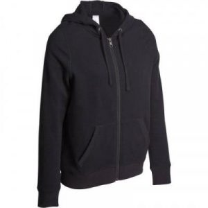 Fitness Mania - Women's Zip Up Hooded Gym and Pilates Jacket Black