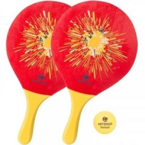 Fitness Mania - Woody Beach Tennis Racket Set - Red