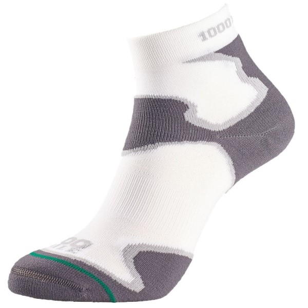 Fitness Mania – 1000 Mile Fusion Anklet Mens Sports Socks – White/Grey