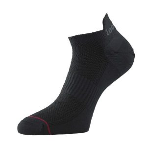 Fitness Mania - 1000 Mile Ultimate Tactel Trainer Womens Sports Socks - Black