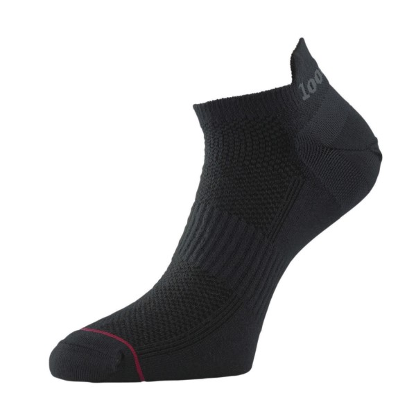 Fitness Mania – 1000 Mile Ultimate Tactel Trainer Womens Sports Socks – Black