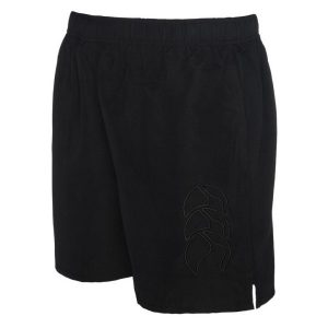Fitness Mania - Canterbury Long Leg Tonal Tactic Kids Boys Training Shorts - Black