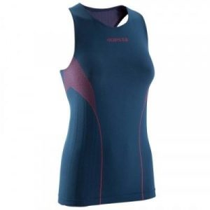 Fitness Mania - Womens Basketball Keepdry Undertank - Blue and Pink