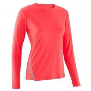Fitness Mania - Womens Long-Sleeved Running Shirt - Run Sun Protect - Coral
