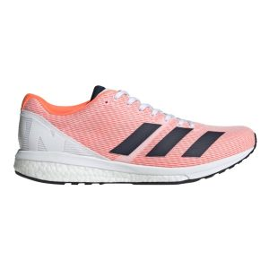 Fitness Mania - Adidas Adizero Boston 8 - Mens Running Shoes - Footwear White/Navy/Solar Orange