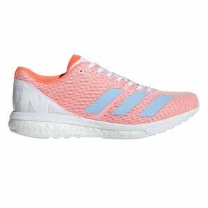 Fitness Mania - Adidas Adizero Boston 8 - Womens Running Shoes - Footwear White/Blue/Solar Orange