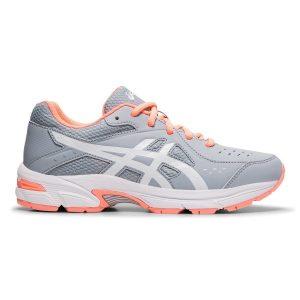 Fitness Mania - Asics Gel 195TR GS - Kids Girls Cross Training Shoes - Piedmont Grey/White