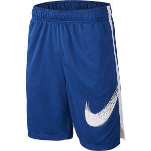Fitness Mania - Nike Dri-Fit Graphic Kids Boys Training Shorts - Indigo Force/White