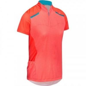 Fitness Mania - 500 Women's Cycling Short-Sleeved Jersey - Pink