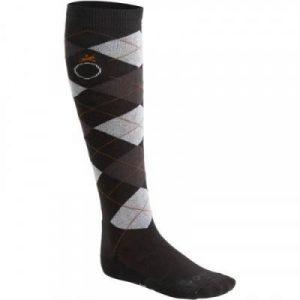Fitness Mania - Argyle Adult Horse Riding Socks Twin-Pack - Dark Grey/Mottled Grey/Camel