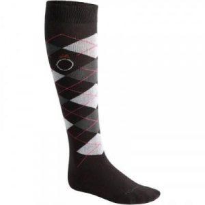 Fitness Mania - Argyle Adult Horse Riding Socks Twin-Pack - Dark Grey/Pink/Light Grey