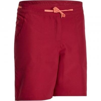 Fitness Mania – Women's Hiking Shorts Forclaz 50 – Dark Pink