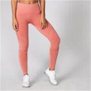 Fitness Mania - Acid Wash Leggings - Copper Rose  - L