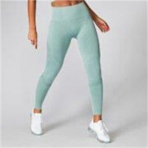 Fitness Mania - Acid Wash Leggings - Seafoam - M