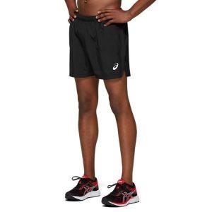 Fitness Mania - Asics Silver 5 Inch Mens Running Shorts - Black