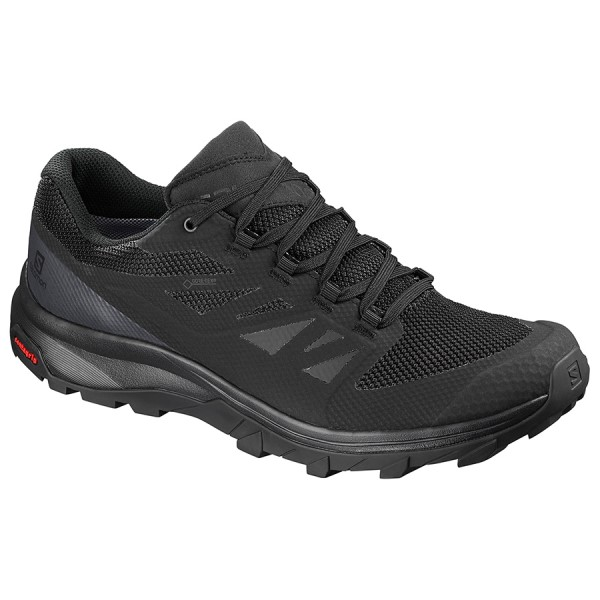 Fitness Mania – Salomon Outline GTX – Mens Trail Hiking Shoes – Black/Phantom/Magnet