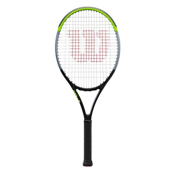 Fitness Mania – Wilson Blade 26″ V7.0 Junior Kids Tennis Racquet – Black/Green/Grey