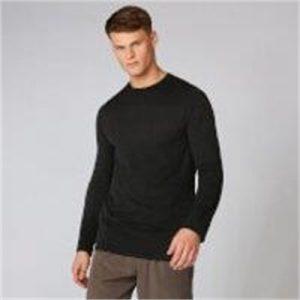 Fitness Mania - Aero Knit Long-Sleeve T-Shirt - Black Marl  - XS