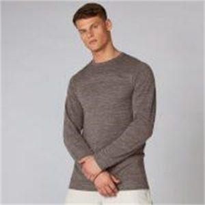 Fitness Mania - Aero Knit Long-Sleeve T-Shirt - Driftwood Marl  - XS