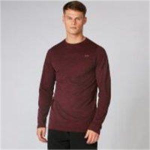 Fitness Mania - Aero Knit Long-Sleeve T-Shirt - Oxblood Marl  - L