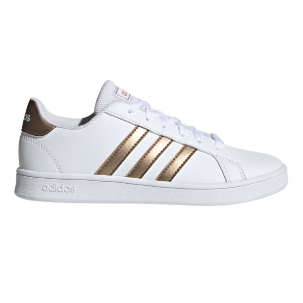 Fitness Mania – Adidas Grand Court – Kids Sneakers – Footwear White/Copper Metallic/Glow Pink