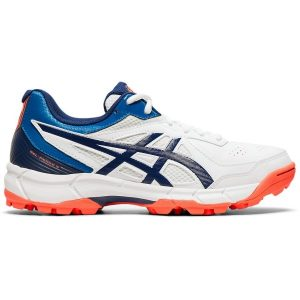 Fitness Mania - Asics Gel Peake 5 GS - Kids Cricket Shoes - White/Blue Expanse