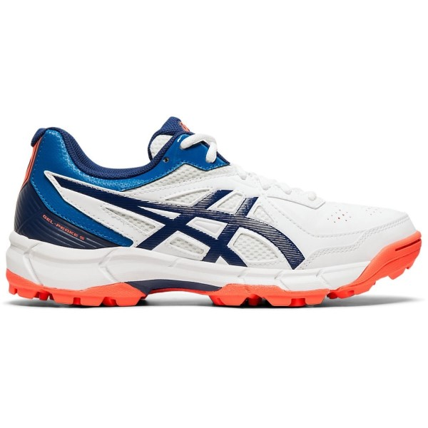 Fitness Mania – Asics Gel Peake 5 GS – Kids Cricket Shoes – White/Blue Expanse